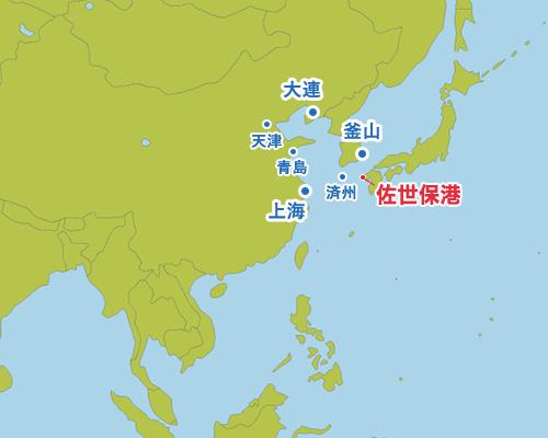 東アジアから見た佐世保港