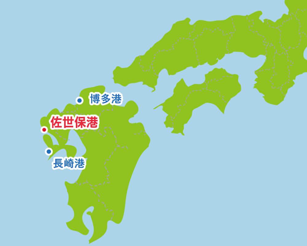 从西日本看佐世保港