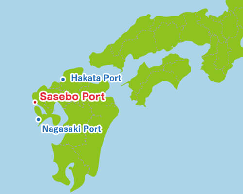 西日本から見た佐世保港